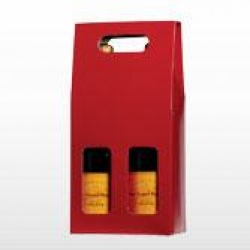 Two Bottle Gift Carton - Red / Window