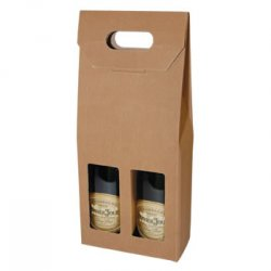 Two Bottle Fluted Gift Carton - Natural / Window